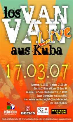 Los Van Van Konzert Flyer
